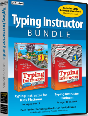Individual Software Typing Instructor Bundle: Typing Instructor Platinum And Typing Instructor For Kids Platinum, Disc