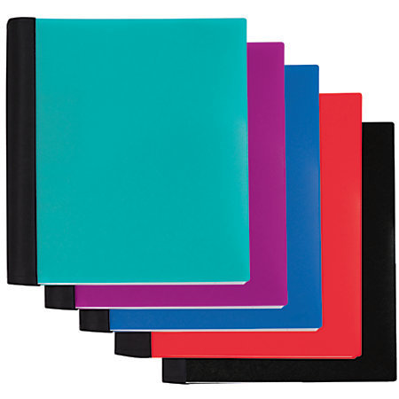 """Office Depot Brand Spiral Stellar Notebook, 9"""" x 11"""", 5 Subject, College Ruled, 200 Sheets, 56% Recycled, Assorted"""