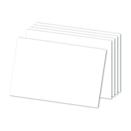 """Office Depot Brand Blank Index Cards, 4"""" x 6"""", White, Pack Of 300"""