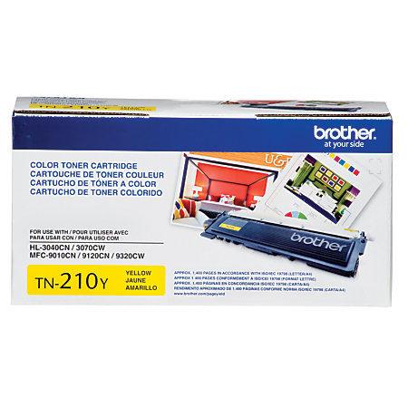 Brother® TN-210Y Yellow Toner Cartridge