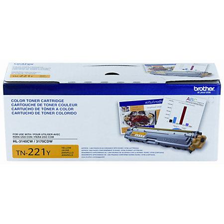 Brother® TN-221Y Yellow Toner Cartridge