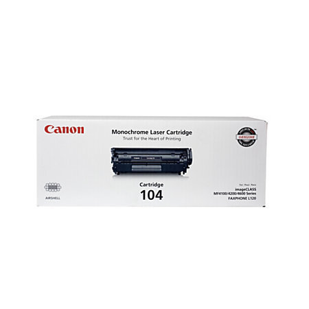 Canon 104, Black Toner Cartridge (0263B001BA)