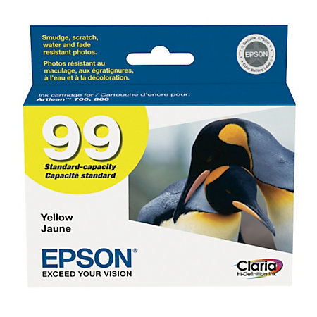 Epson 99, (T099420-S) Claria Hi-Definition Yellow Ink Cartridge