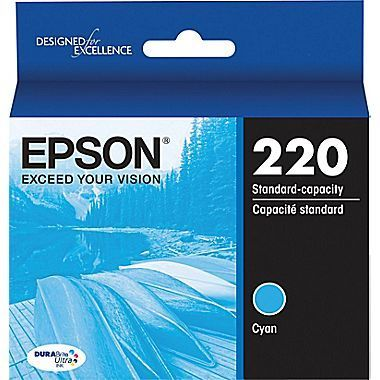 Epson DuraBrite Ultra Ink Cartridge, Cyan, T220220-S