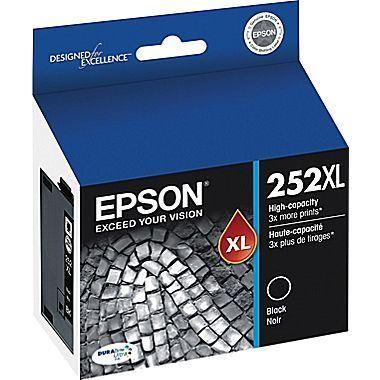 Epson® DuraBrite® Ultra T252XL120-S High-Yield Black Ink Cartridge