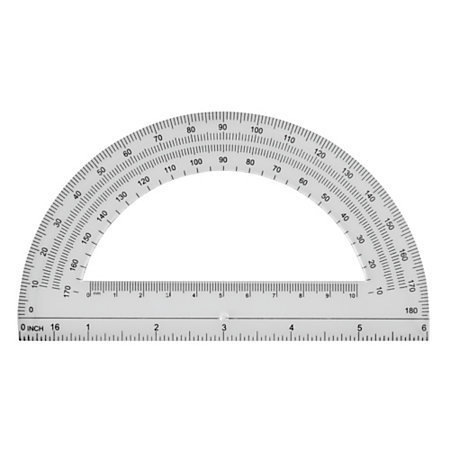 """Office Depot® Brand Semicircular 6"""" Protractor, Clear"""