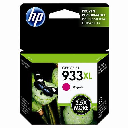 HP 933XL, Magenta Original Ink Cartridge (CN055AN)