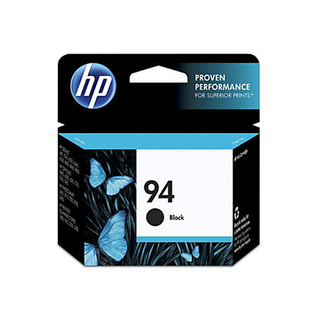 HP 94, Black Ink Cartridge With Vivera Original Ink (C8765WN)