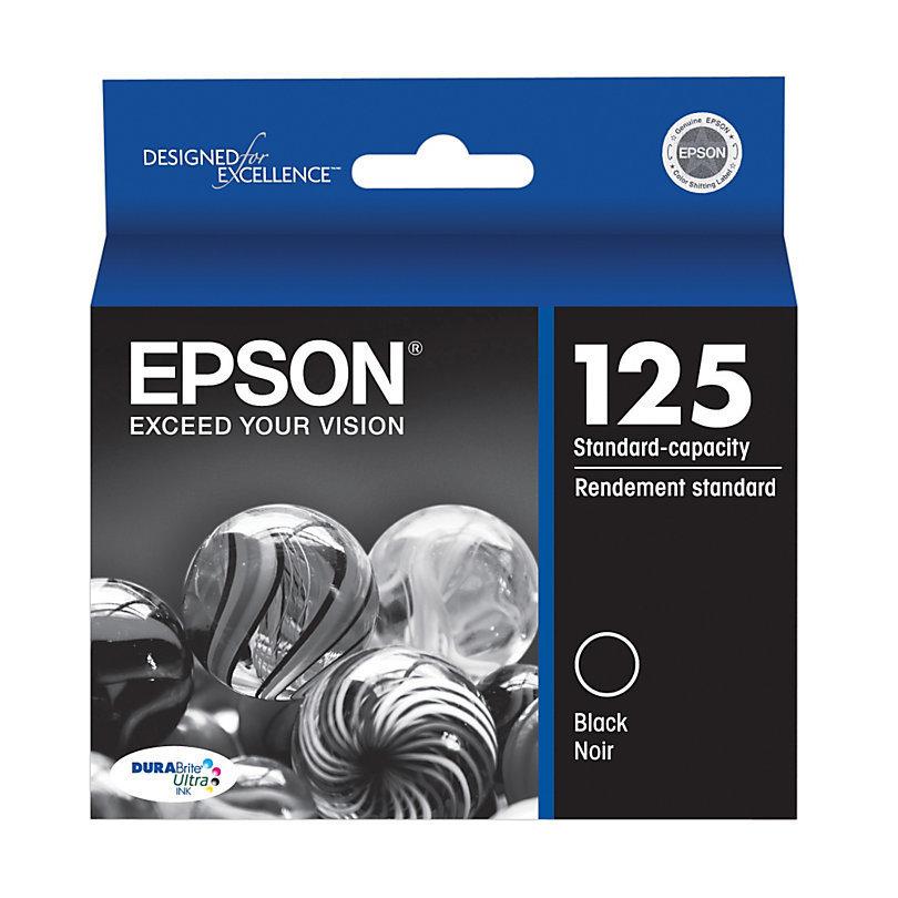 Epson® 125, (T125120) DuraBrite® Ultra Black Ink Cartridge