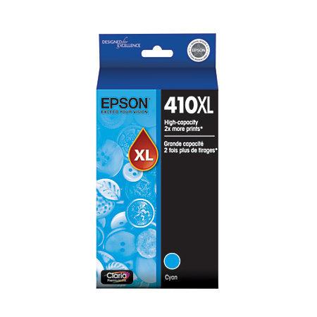 EPSON Claria 410XL High-Yield Premium Cyan Ink Cartridge (T410XL220-S)