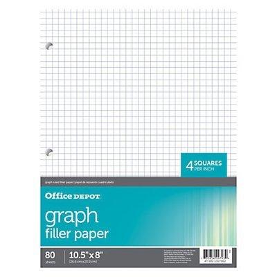 Office Depot Brand Quadrille-Ruled Notebook Filler Paper, 8