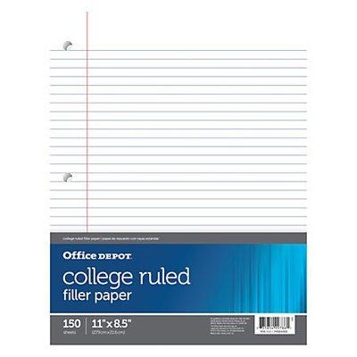 Office Depot Brand Notebook Filler Paper, College-Ruled, 8 1/2
