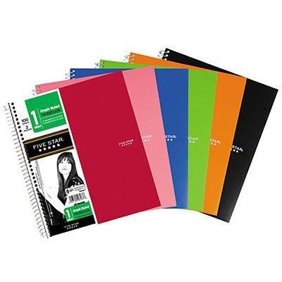 Five Star Spiral Quadrille Notebook, 8 1/2