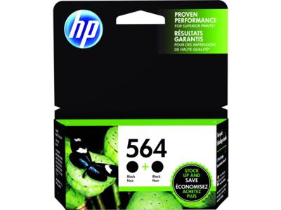 HP 564, Black Original Ink Cartridges (C2P51FN), Pack Of 2