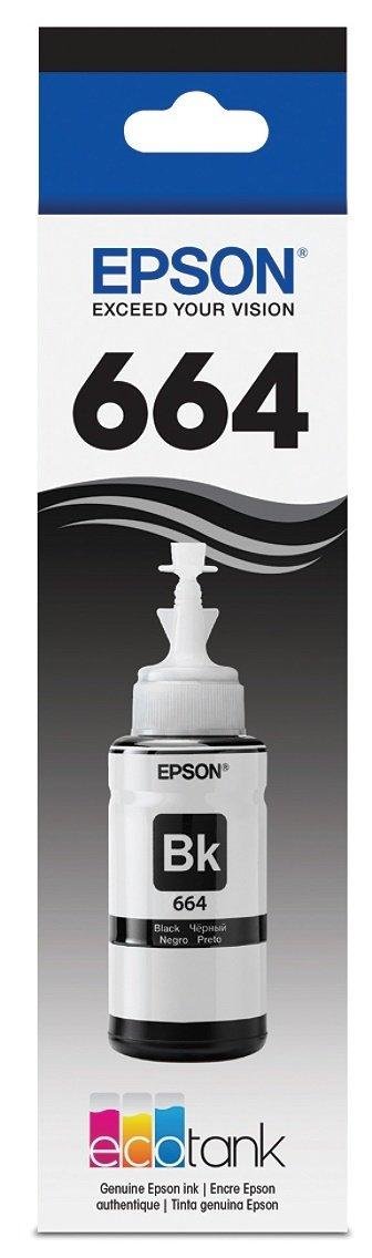 Epson® Eco Tank T664120-S Black Refill Ink Bottle