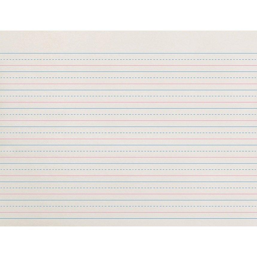 """Pacon Broken Midline Writing Paper, Grade 2-3, 1/2"""" x 1/4"""" x 1/4"""", LW"""