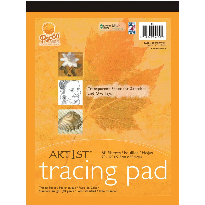 "Pacon Art1st Tracing Pad, 9"" x 12"", 40 Sheets"