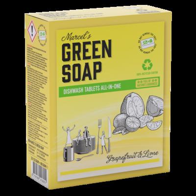 Marcel's Green Soap Opvasketabs - Grapefrugt & Lime