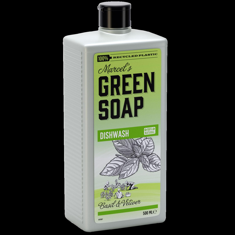 Marcel's Green Soap Opvaskemiddel - Basilikum & grønt græs (500ml)