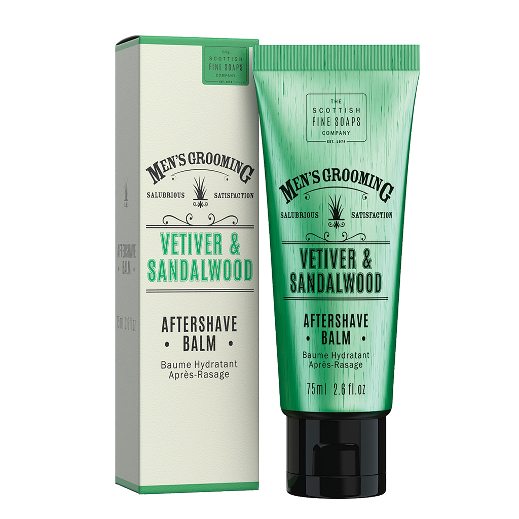 Scottish Fine Soaps Men's Grooming Vetiver and Sandalwood - Aftershave Balm