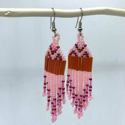 Musali Øreringe - lyserød