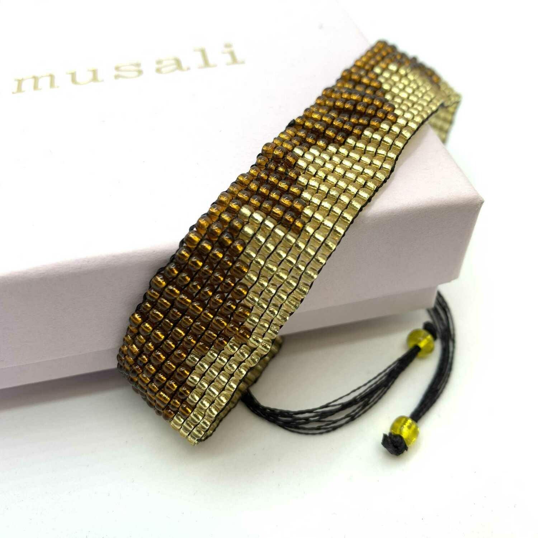 Musali Armbånd - guld/brun
