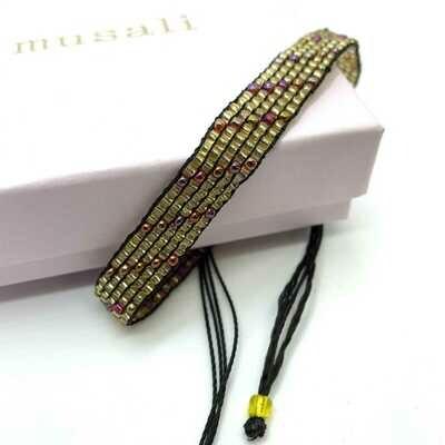 Musali Armbånd - guld/rødlig