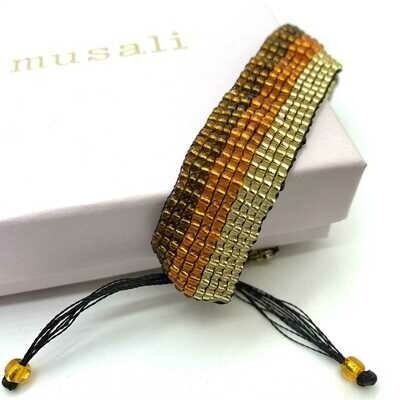 Musali Armbånd - guld/orange/brun