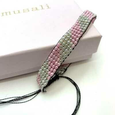 Musali Armbånd - lyserød/hvid