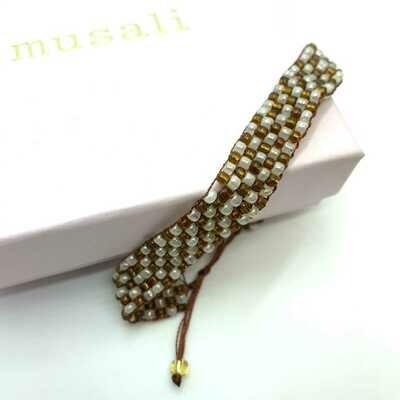 Musali Armbånd - hvid/brun