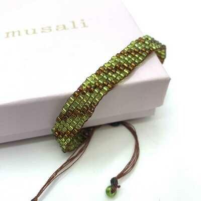Musali Armbånd - grøn/brun