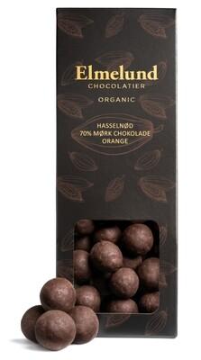 Elmelund - Hasselnød/70% mørk chokolade/Orange