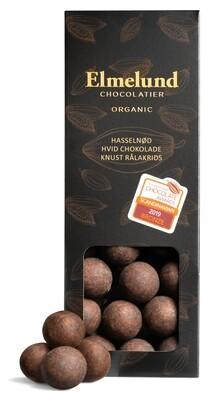 Elmelund - Hasselnød/Hvid chokolade/ Knust Rålakrids