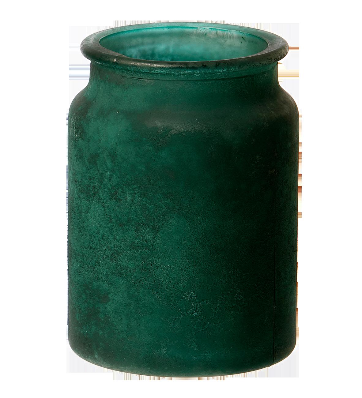 Palma vase, genbrugsglas. Grøn