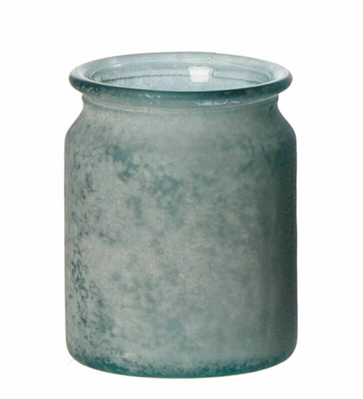 Palma vase, genbrugs glas. Grå