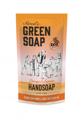 Marcel Green Soap Refill håndsæbe - Orange & Jasmine (500 ml)
