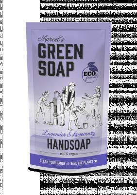 Marcel Green Soap Refill håndsæbe - Lavender & Rosmarin (500 ml)