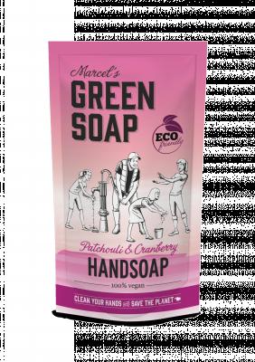 Marcel Green Soap Refill håndsæbe - Patchouli & Tranebær (500 ml)