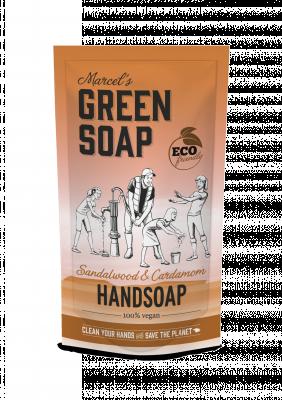 Marcel Green Soap Refill håndsæbe - Sandeltræ & Kardemomme (500 ml)