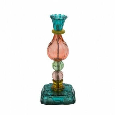 byRoom lysestage Turkis-orange-pink, genbrugs glas.