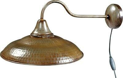 Trademark Living Væglampe i fabriksstil - jern med klar lak