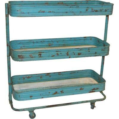 Trademark Living Rullebord - Antikblå med patina