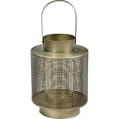 Lanterne med glasindsats - medium
