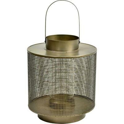 Lanterne med glasindsats - large