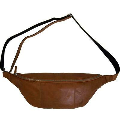 Bumbag - brunt læder - large
