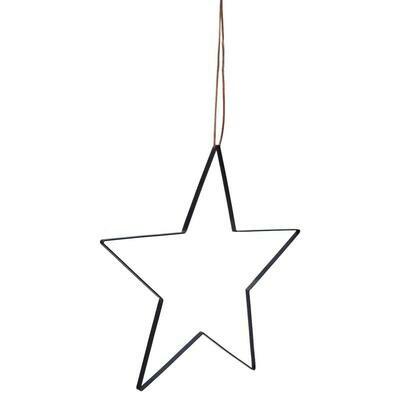 Stjerne med lædersnor - Large