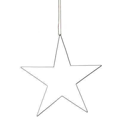 Stjerne med lædersnor - X Large
