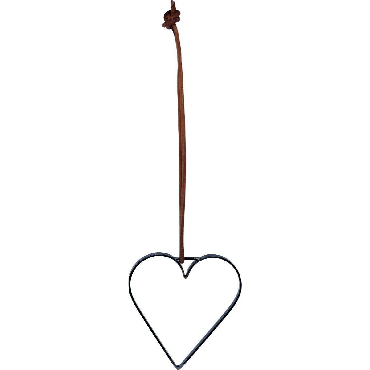 Hjerte med læderstop - small