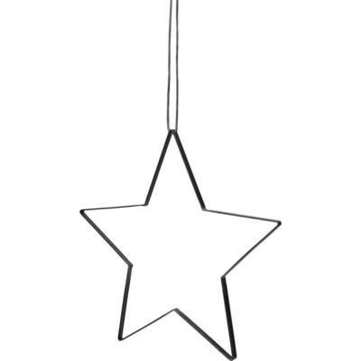 Stjerne med læder snor - Medium