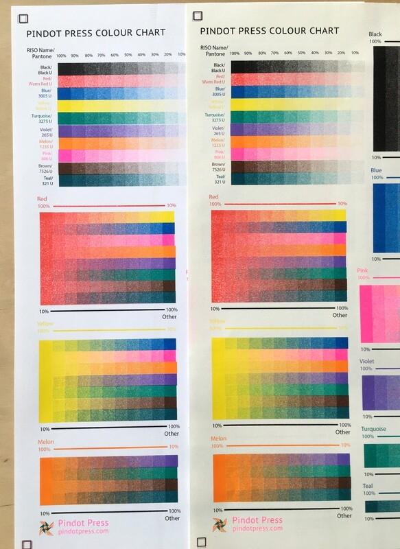 NEW Pindot Press Color Chart (13 Colors)